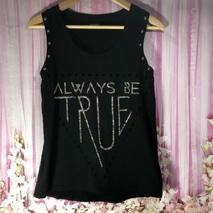 Express Tops - Express Punk Rock tank triangle accents